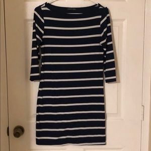 Soprano blue and white stripped medium dress